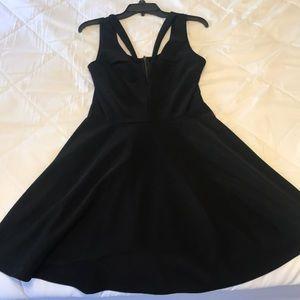 Lulu's black skater dress